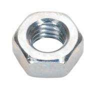 Sealey SN6 Steel Nut M6 Zinc DIN 934 Pack of 100