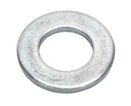 Sealey FWA1224 Flat Washer M12 x 24mm Form A Zinc DIN 125 Pack of 100