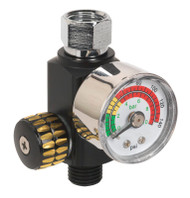 Sealey AR01 On-Gun Air Pressure Regulator/Gauge