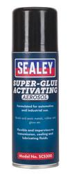 Sealey SCS300 Super Glue Activating Aerosol 200ml Pack of 6