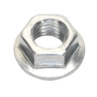 Sealey FN5 Flange Nut Serrated M5 Zinc DIN 6923 Pack of 100