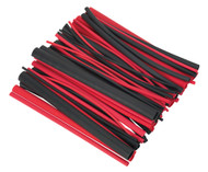 Sealey HSTAL72BR Heat Shrink Tubing Assortment 72pc Black & Red Adhesive Lined 200mm