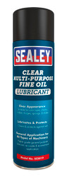 Sealey SCS019 Clear Fine Oil Lubricant Multipurpose 500ml Pack of 6
