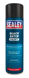 Sealey SCS028 Black Satin Paint 500ml Pack of 6