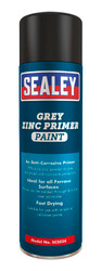 Sealey SCS034 Grey Zinc Primer Paint 500ml Pack of 6