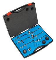 Sealey AB936 Air Brush Kit 10pc Gravity/Suction Feed
