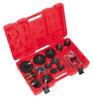 Sealey VS0204B Brake & Clutch Bleeder Cap Set