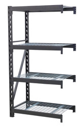 Sealey AP6372E Heavy-Duty Racking Extension Pack with 4 Mesh Shelves 640kg Capacity Per Level