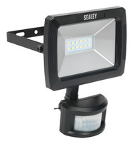 Sealey LED086 Floodlight with Wall Bracket & PIR Sensor 10W SMD LED 230V