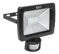 Sealey LED087 Floodlight with Wall Bracket & PIR Sensor 20W SMD LED 230V