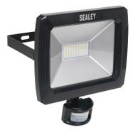 Sealey LED089 Floodlight with Wall Bracket & PIR Sensor 70W SMD LED 230V