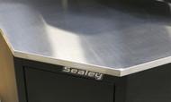 Sealey APMS19 Stainless Steel Corner Worktop 930mm