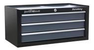 Sealey AP3503TB Mid-Box 3 Drawer with Ball Bearing Runners - Black/Grey