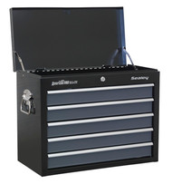 Sealey AP3505TB Topchest 5 Drawer with Ball Bearing Runners - Black/Grey