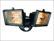 Byron BYRES1202 - ES120/2 Twin Halogen Floodlight with PIR Black 150 Watt
