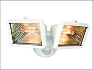 Byron BYRES1202W - ES120/2W Twin Halogen Floodlight With PIR White 150 Watt