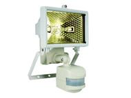 Byron BYRES120W - ES120W Halogen Floodlight with PIR White 120 Watt