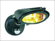 Byron BYRES128 - ES128 Halogen Floodlight with Motion Detector Black 120 Watt