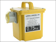 Carroll & Meynell C/M7501 - 7501/1 Transformer Single Outlet Rating 750va Continuous 375va