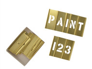C H Hanson CHH10068 - 1in Brass Stencils Letters/Numbers 45-Piece Set