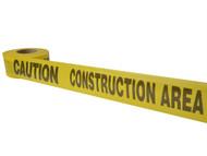 C H Hanson CHH16009 - Standard Grade Barricade Tape - Caution Construction Area Yellow 305m (1000ft)