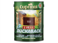 Cuprinol CUPDBAB5L - Ducksback 5 Year Waterproof for Sheds & Fences Autumn Brown 5 Litre
