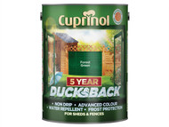 Cuprinol CUPDBFG5L - Ducksback 5 Year Waterproof for Sheds & Fences Forest Green 5 Litre