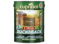 Cuprinol CUPDBFO5L - Ducksback 5 Year Waterproof for Sheds & Fences Forest Oak 5 Litre
