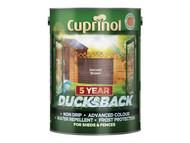 Cuprinol CUPDBHB5L - Ducksback 5 Year Waterproof for Sheds & Fences Harvest Brown 5 Litre
