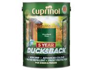 Cuprinol CUPDBWM5L - Ducksback 5 Year Waterproof for Sheds & Fences Woodland Moss 5 Litre