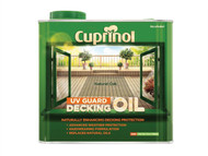 Cuprinol CUPDONO25L - UV Guard Decking Oil Natural Oak 2.5 Litre