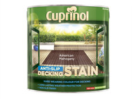 Cuprinol CUPUTDSAM25L - Anti Slip Decking Stain American Mahogany 2.5 Litre