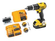 DEWALT DEWDCD785M1D - DCD785 XR Compact Hammer Drill Driver & 67 Piece Bit Set 18 Volt 1x 4.0Ah Li-Ion