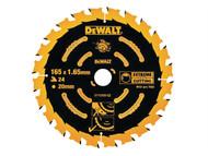DEWALT DEWDT10300QZ - Circular Saw Blade 165 x 20mm x 24T Corded Extreme Framing
