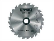 DEWALT DEWDT1158QZ - Circular Saw Blade 250 x 30mm x 24T Series 30 Fast Rip