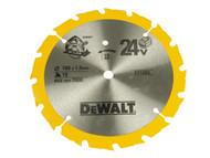 DEWALT DEWDT1206QZ - Trim Saw Blade 165 x 20mm x 36T Fine Finish