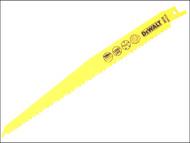 DEWALT DEWDT2349QZ - Sabre Blade Fast Cuts Wood with Nails Plastics 228mm Pack of 5