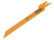 DEWALT DEWDT2351QZ - Sabre Blade Fine Fast Cuts & Curve Cutting in Wood 152mm Pack of 5