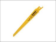 DEWALT DEWDT2356QZ - Bi Metal Sabre Blade Splinter Free Cuts in Plaster 152mm Pack of 5