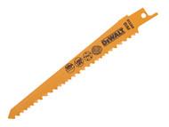 DEWALT DEWDT2359QZ - Sabre Blade Fast Cuts Wood with Nails Plastics 152mm Pack of 5