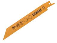 DEWALT DEWDT2361QZ - Bi Metal Sabre Blade Fast Cut in Metal & Sheet Metal 152mm Pack of 5