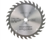 DEWALT DEWDT4031QZ - Circular Saw Blade 184 x 16mm x 28T Series 40 General Purpose
