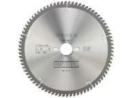 DEWALT DEWDT4287QZ - Circular Saw Blade 250 x 30mm x 80T Series 40 Extra Fine Finish
