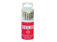 Dormer - A096 No.419 HSS TiN Coated Drill Set of 19 1.00mm-10.00mm x 0.5mm