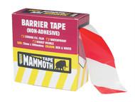 Everbuild EVB2BARRD500 - Barrier Tape Red / White 72mm x 500m