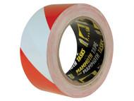 Everbuild EVB2HAZRD - PVC Hazard Tape Red / White 50mm x 33m