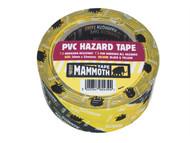 Everbuild EVB2HAZYW - PVC Hazard Tape Black / Yellow 50mm x 33m