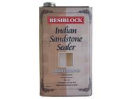 Everbuild EVBRBINDENH5 - Resiblock Indian Sandstone Sealer Colour Enhancer 5 Litre