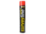 Everbuild EVBSURVEYRE - Surveyline Marker Spray Red 700ml
