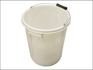 Faithfull FAI5GBUCKET - 5 Gallon 25 litre Bucket - White